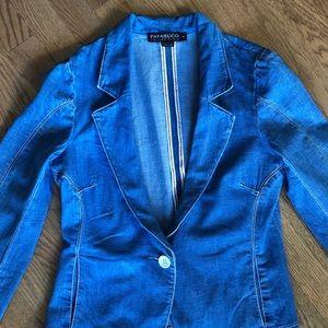 Parasuco Vintage fitted denim blazer, size 8
